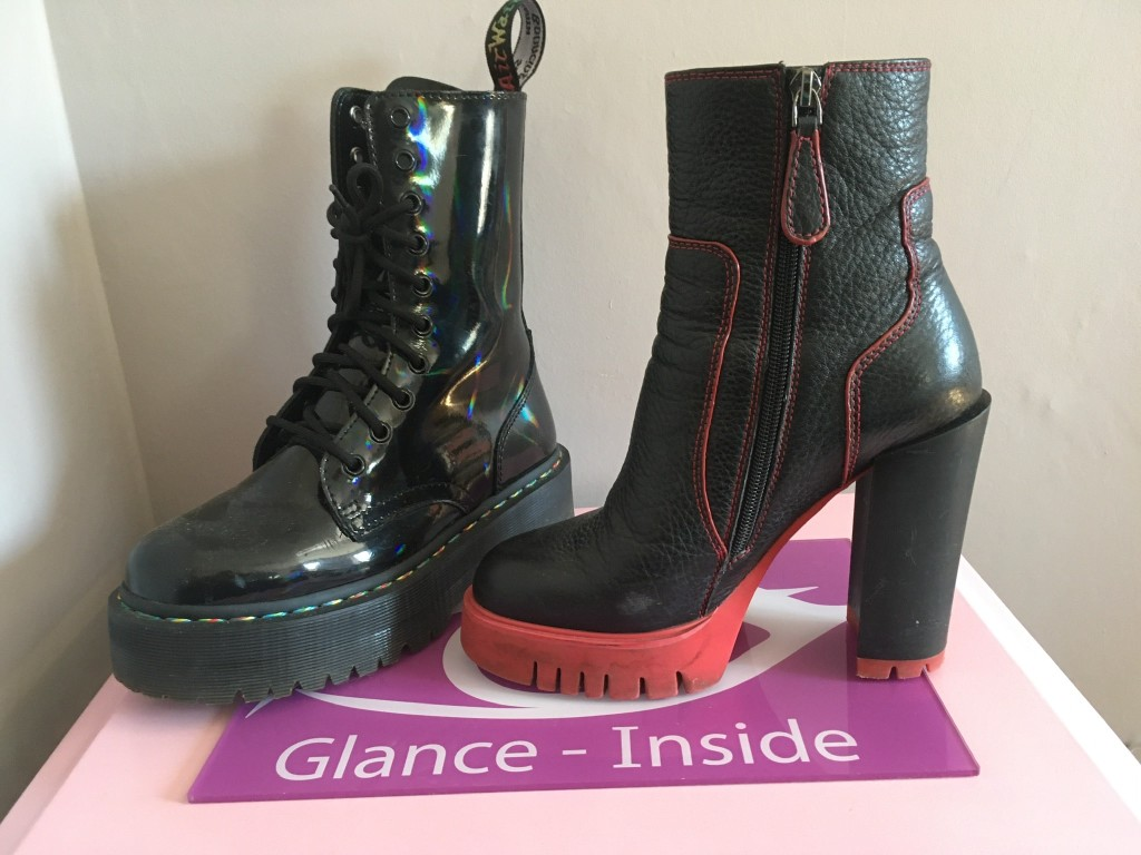 Trendy Dr Martens Rainbow boots